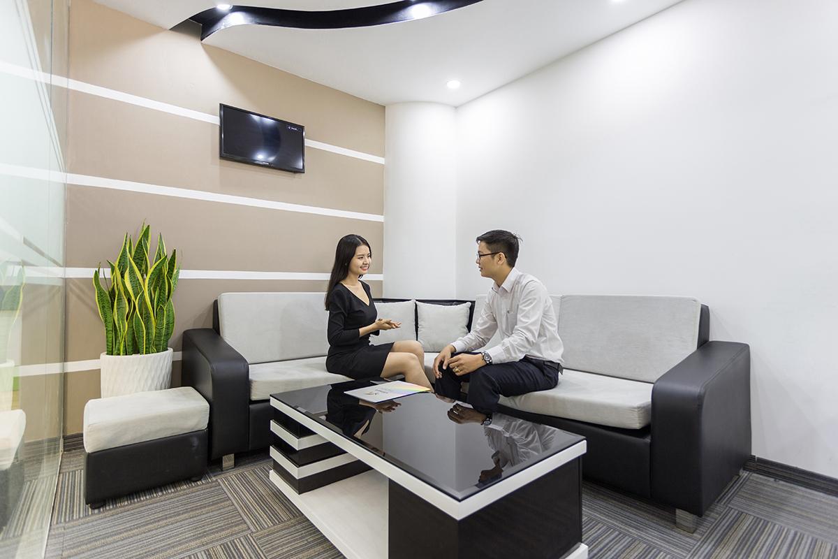 Khu vực tiếp khách tại Văn Phòng Ảo Quận Phú Nhuận