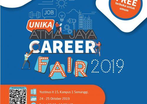 Unika Atma Jaya Career Fair 2019: Temukan pekerjaan impianmu sekarang!