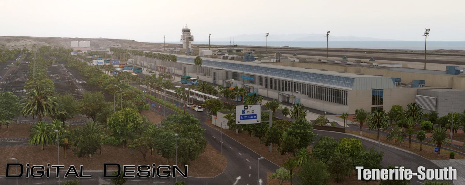 Aeroporto Tenerife Sud : Single preview of digital designs tenerife south gcts fselite