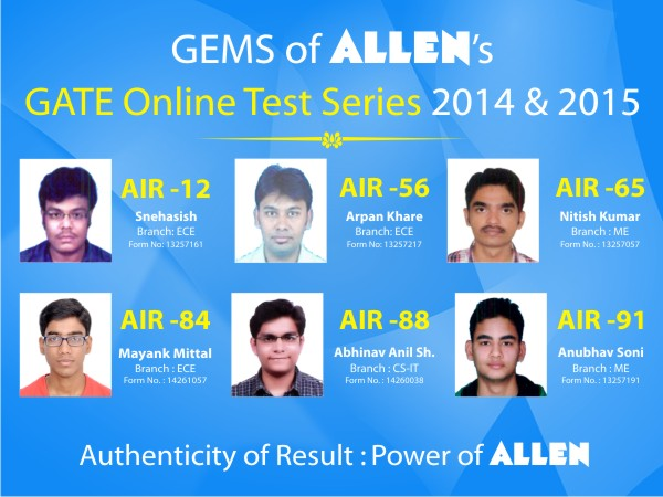 GATE-Result-2014-and-2015-Of-Allen