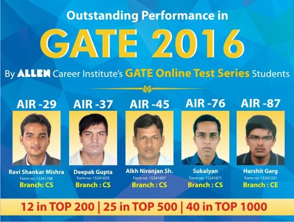 GATE-Result-2016-Of-Allen