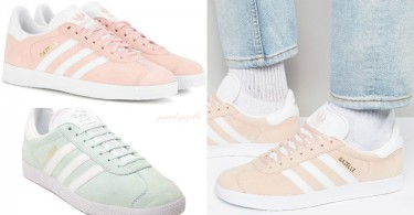 收起你的superstar吧!adidas gazelle秋冬全新配色,淡粉色x薄荷綠太犯規啦!