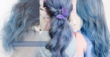 灰藍的微妙交疊~16款時尚個性十足的霧面灰藍髮色,超有漸層的效果!