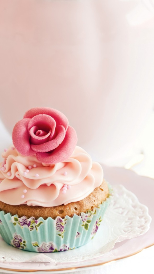 vintage cupcake wallpaper - photo #1