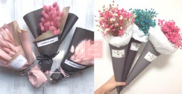 男友真的不用給我買99朵玫瑰!唯美浪漫的小乾燥花束,作為小女生的我收到這已經超滿足!