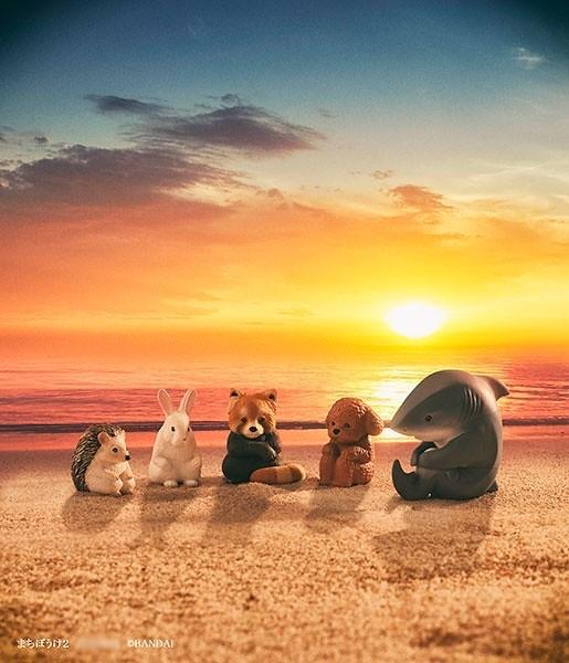 「寂寞等待中的動物」扭蛋第二彈小熊貓、刺蝟、兔兔、鯊魚和貴婦狗