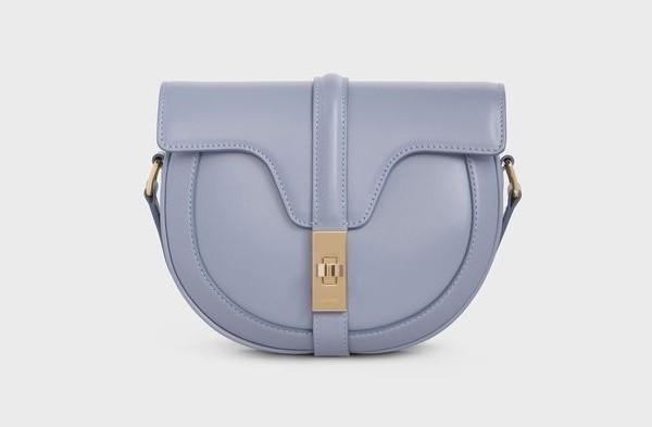 CELINE手袋2020寧靜藍緞面小牛皮小型BESACE 16