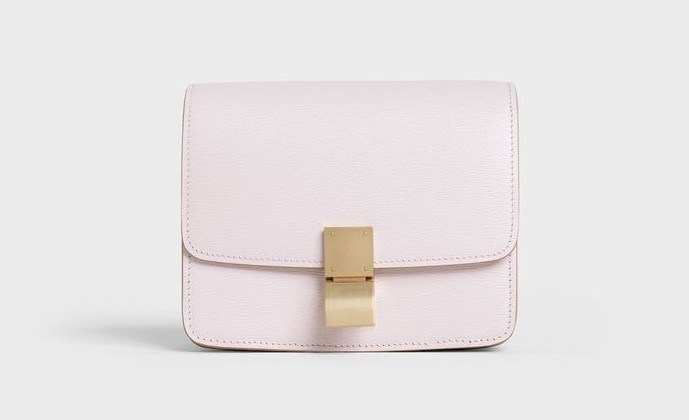 CELINE手袋2020石英粉頂級小牛皮中型CLASSIC手袋