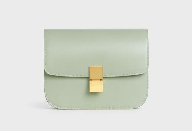 CELINE手袋2020柔霧綠頂級小牛皮中型CLASSIC手袋