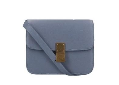 CELINE手袋2020寧靜藍頂級小牛皮中型CLASSIC手袋