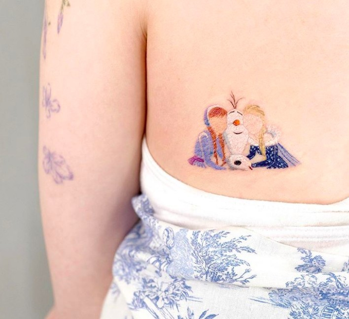 Elsa迪士尼紋身