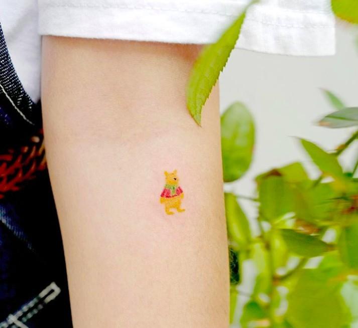 韓國小熊維尼紋身
