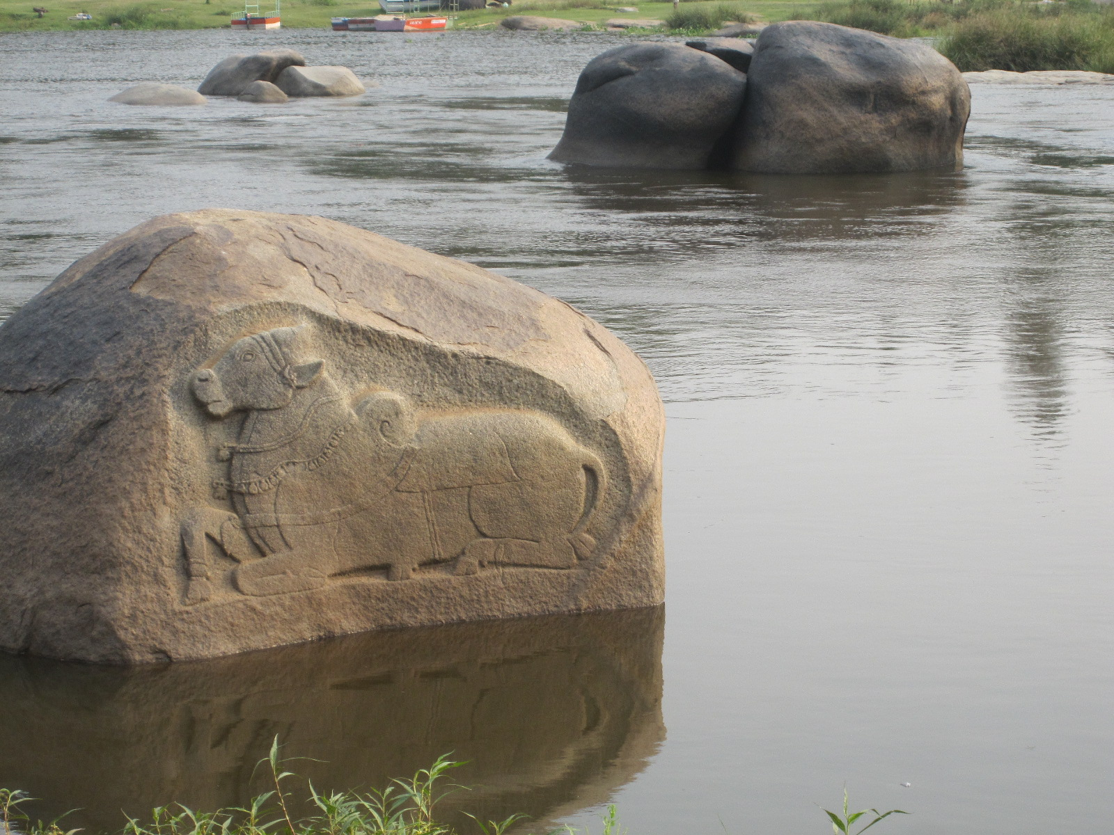 I'm not sure if Shiva is, but in Hampi. Nandi definitely is!
