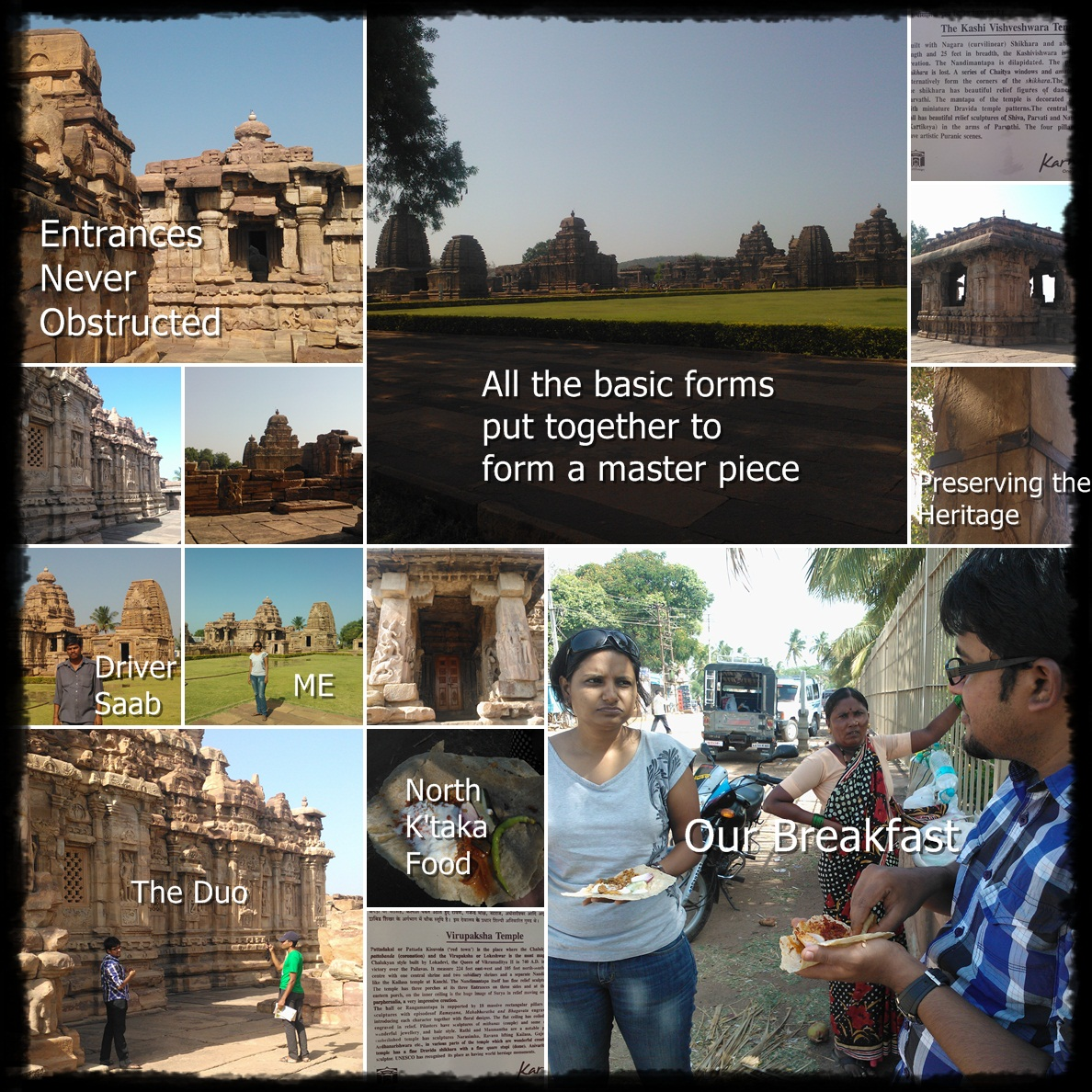 Picture collage at Pattadkal