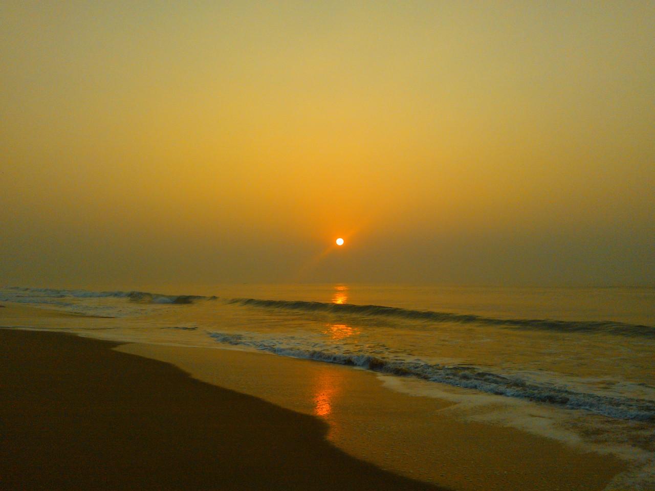 sunrise at chandrabagha beach