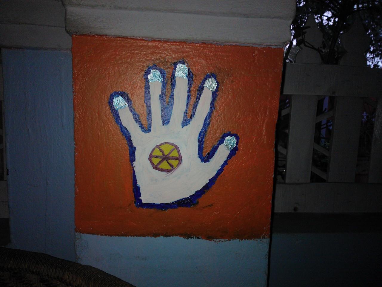 hand art at surfing yogis