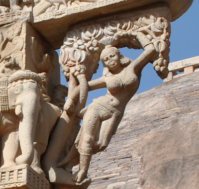 Eastern Gateway - Shalabhanjika depicting fertility or abundance in nature