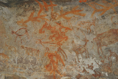 Bhimbetka Rock Sheltor 12 - Hunting scene