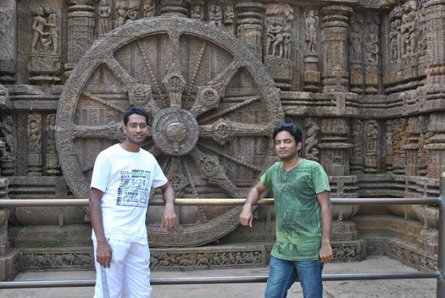 Ajay and me at Konark Temple