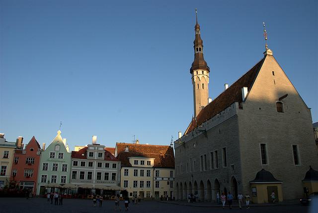 Raekoja Plats in Tallin Estonia