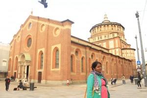 """Church and Dominican Convent of Santa Maria delle Grazie with """"The Last Supper"""" by Leonardo da Vinci"""