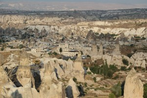 cappadocia city among pinnacles