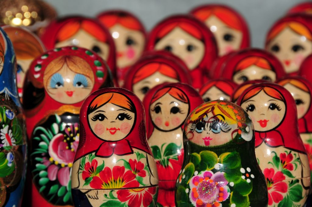 Different kinds of Matryoshka dolls