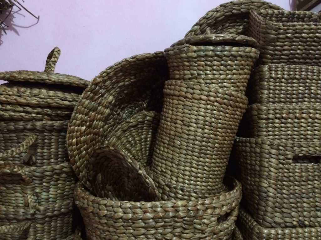 The final products of hyacinth craft from Banyu Biru