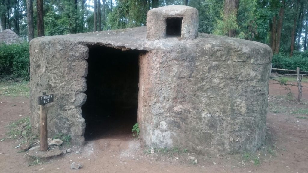 One of the traditional huts at the Bomas of Kenya
