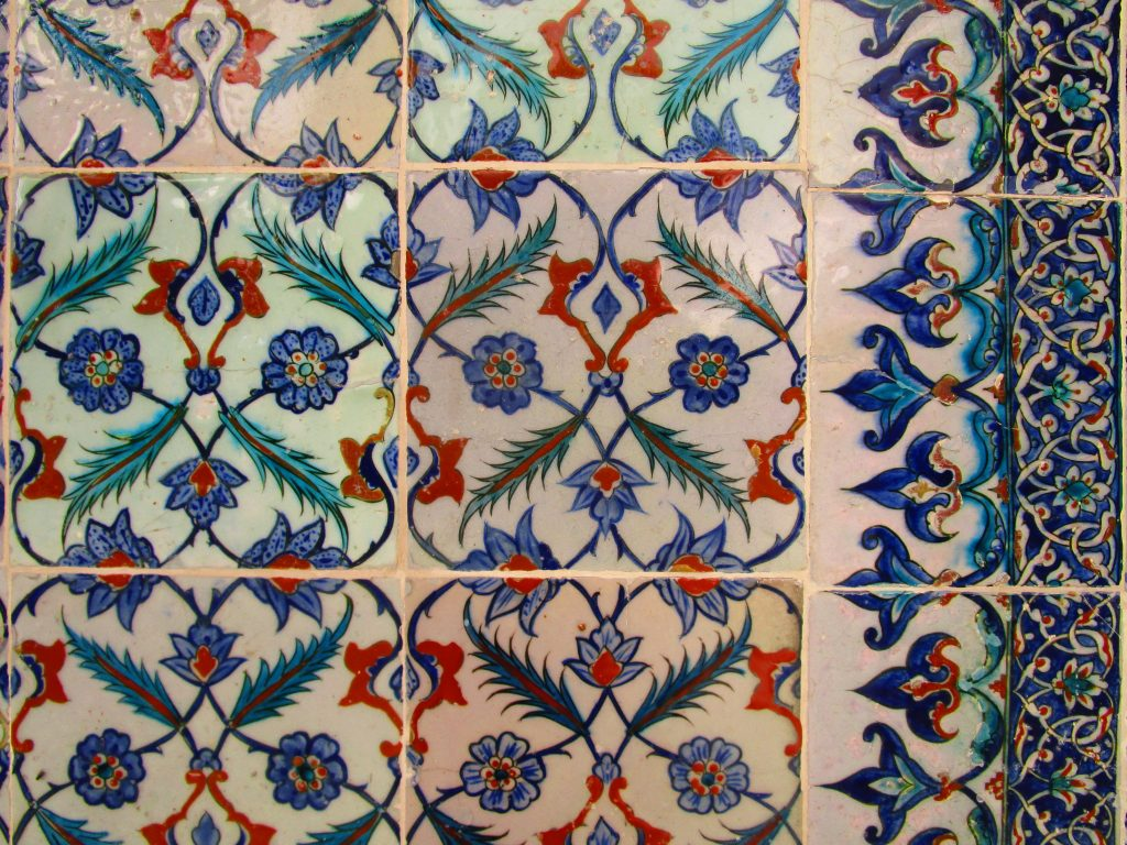 Tilework at a Turkish mosque