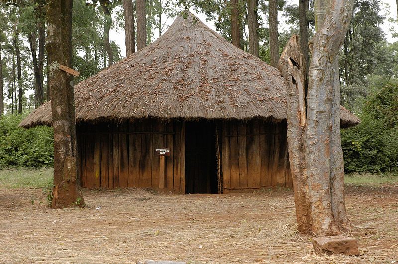 Photo Credit: Kikuyu hut of the 3rd wife in Kikuyu village at Bomas of Kenya, Leisser, A (2006) [https://commons.wikimedia.org/wiki/File:Kikuyu_village_01.jpg]