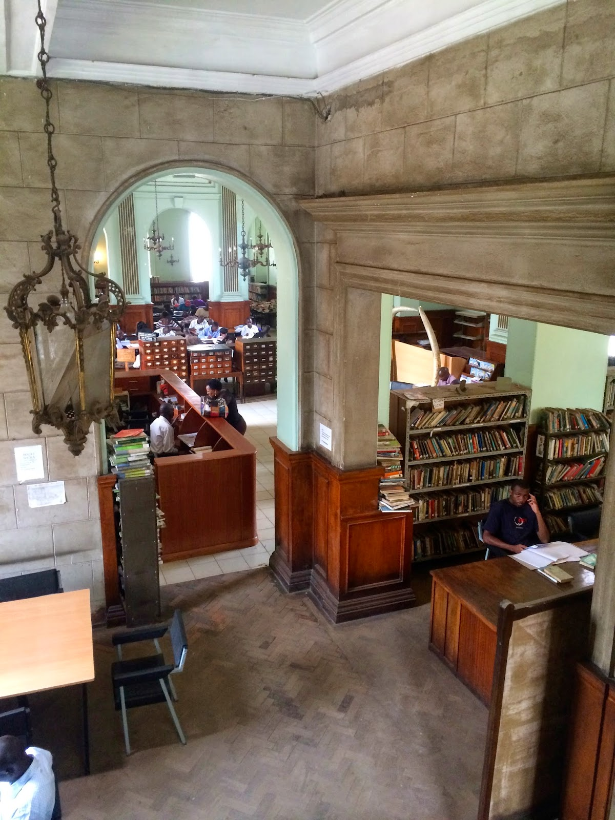 Public Library from colonial era. Source: http://charlotteccaldwell.blogspot.co.ke/2014/04/mcmillan-library.html