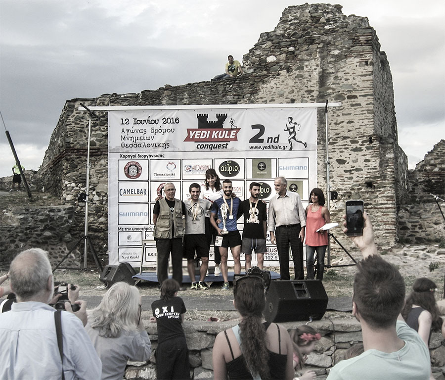 Yedi Kule Conquest: The medal ceremony for male winners, following those for adolescents and women.