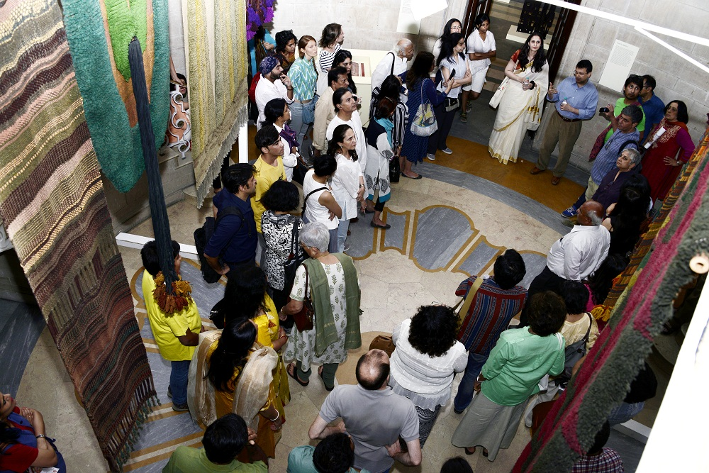People engaged in a gallery talk around special exhibition, National Gallery of Modern Art, Jaipur House, India Gate. (photo curtesy: NGMA)