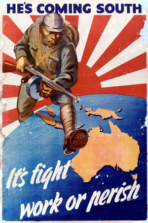 Fear of Japanese invasion was strong in Australia in 1942. Picture from the Australian War Memorial.
