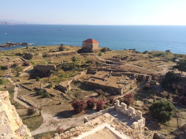 On top of the Main Tower, the highest point in the archeological site of Byblos