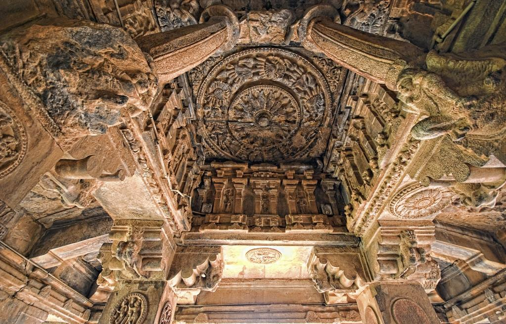 Ceiling carvings of Durga temple, Aihole