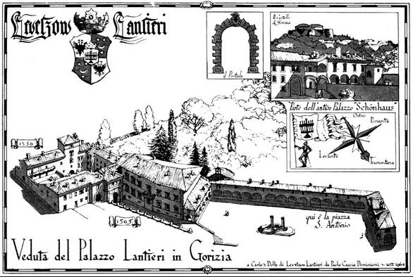 """Palazzo Lantieri Source: """"Il Plazzo Lantieri"""", by Charles Levetzow Lantieri, Edizione della Laguna, 1994."""