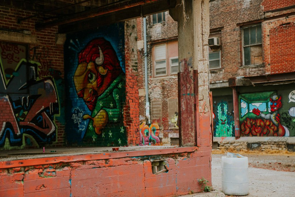 Graffiti art is a prominent part of the Westbottoms