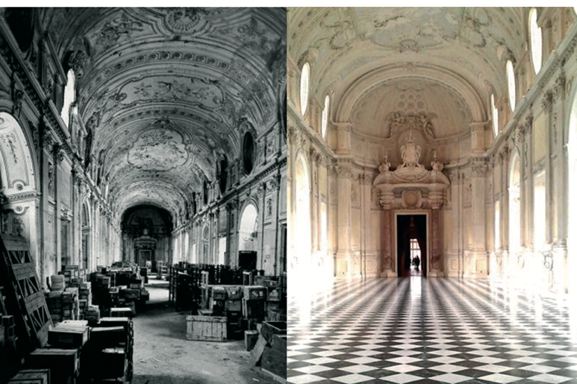 Before and after the restoration project (1997-2013), Reggia di Venaria, Residences of the Royal House of Savoy, Venaria, Italy. Source: http://www.lavenaria.it/web/it/multimedia/fotogallery/category/45-prima-e-dopo-il-restauro.html