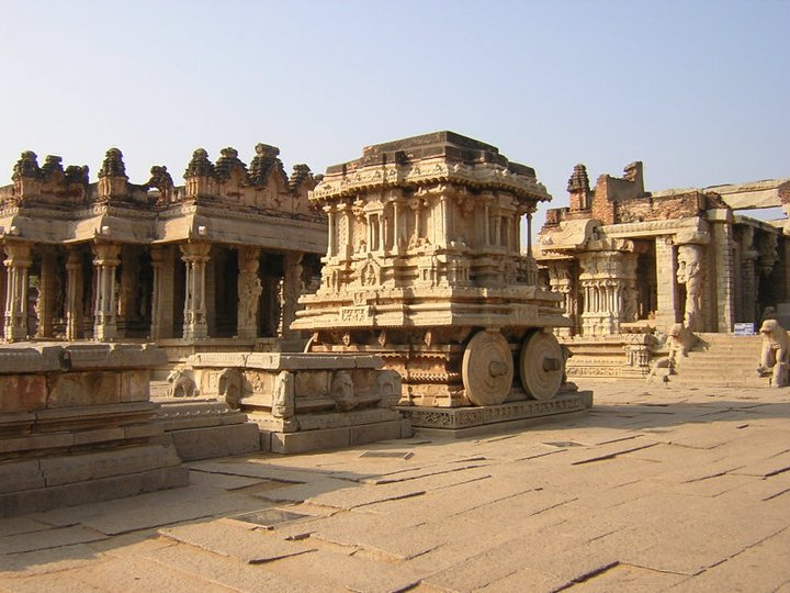 A picture of the bull. - Group of Monuments at Hampi India Evelyn Kandur