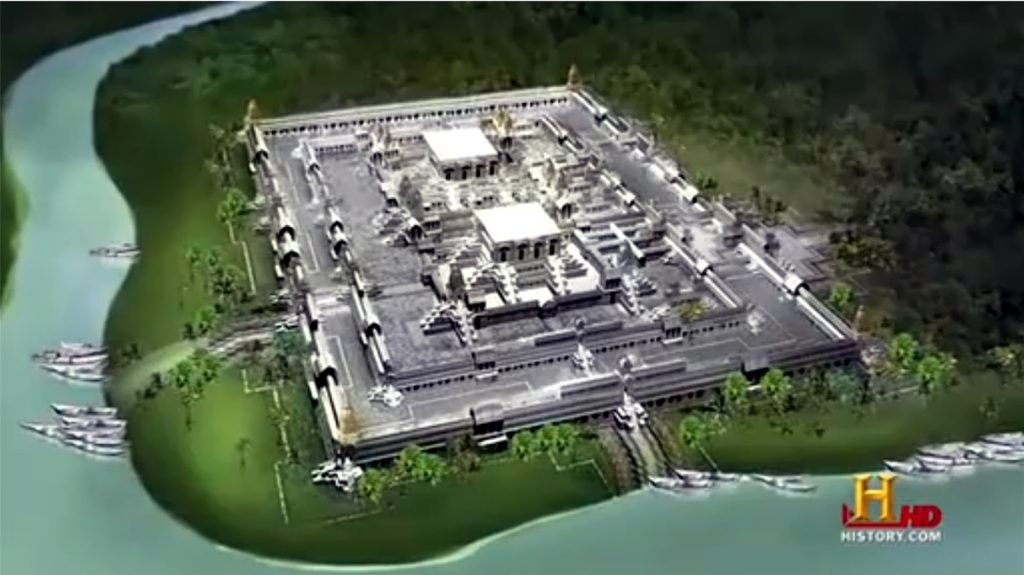 A digital recreation of ancient Dwarka. Photo courtesy: history.com