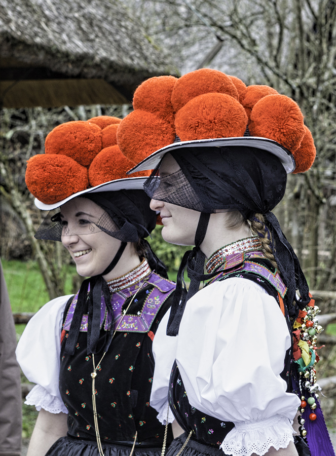 Women still wear Bollenhuts today for special occasions. Photo by Tournachon on Flickr.