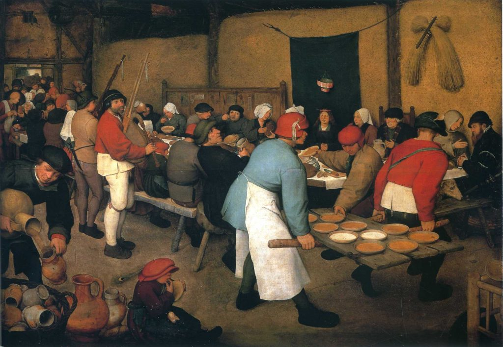 The Peasant Wedding by Pieter Bruegel the Elder, 1568