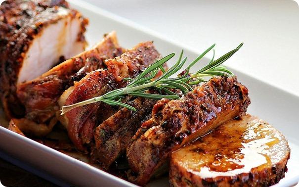 A Schweinebraten ready to be served