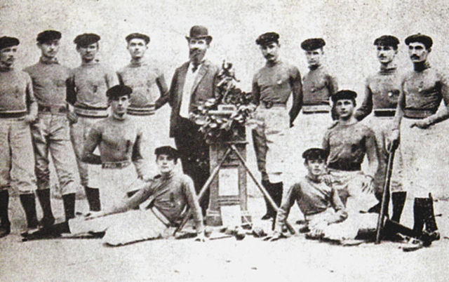 The winning team of the first National Championship (1899) - Nicolae Balcescu Highschool Team from Brăila