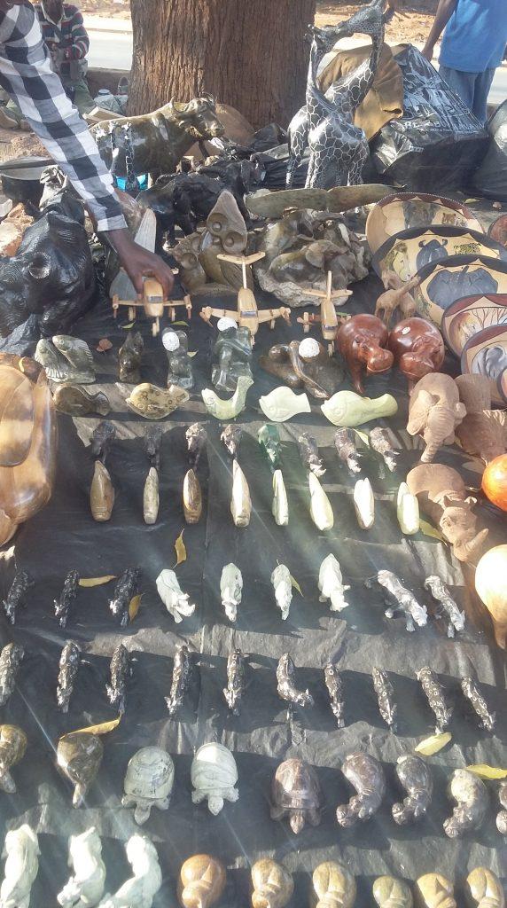 Alick at Lilongwe curios