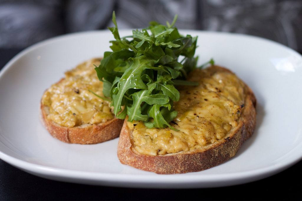 Welsh Rarebit made with Single Gloucester cheese (Source: https://www.flickr.com/photos/tristankenney/4892570672)