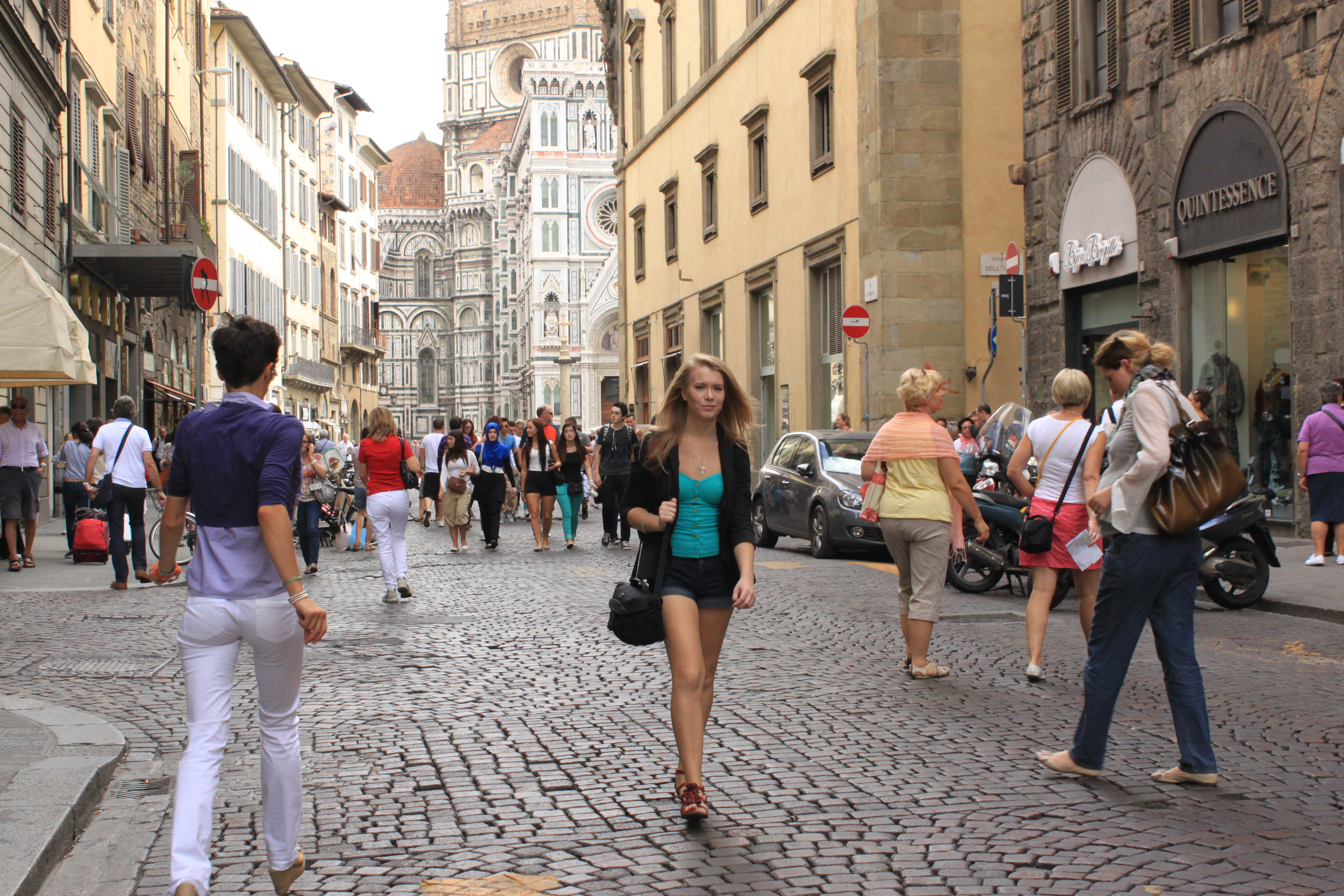 In the street of Florence Historic Centre of Florence - Italy Anna Urukova
