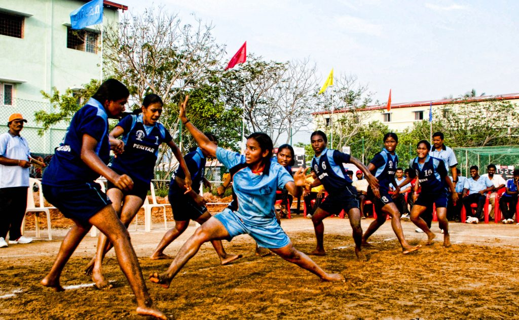 Kabaddi Photo from: https://en.wikipedia.org/wiki/Kabaddi